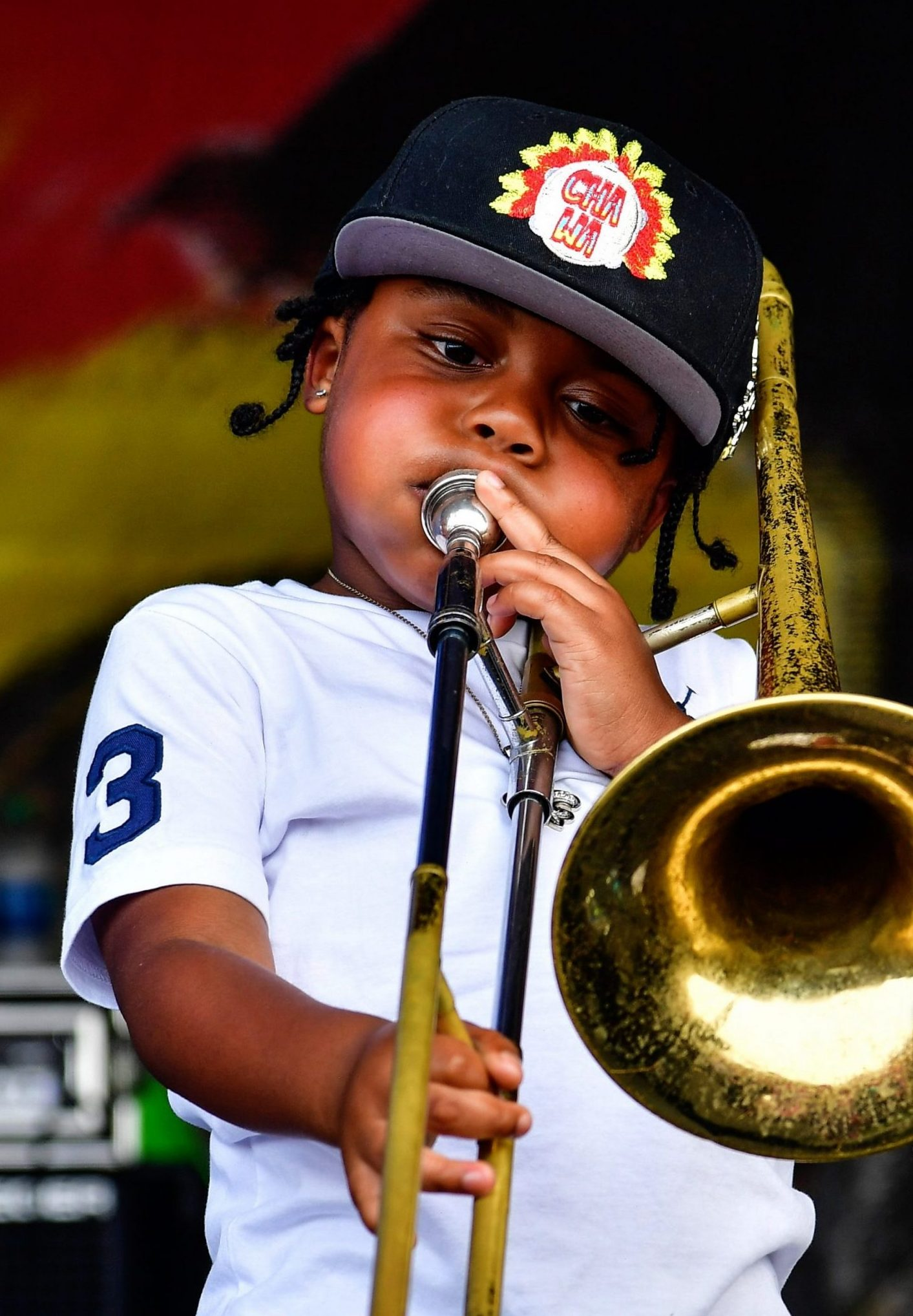 Erika Gorldring Photography boy with Trombone